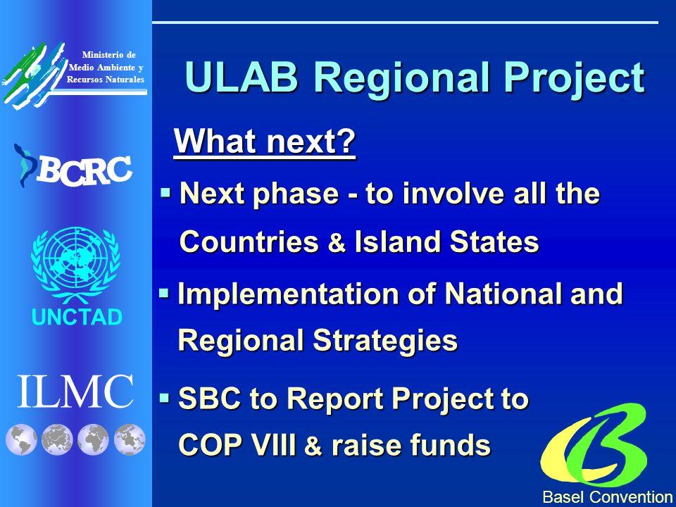 Basel Convention ILMC UNCTAD Ministerio de Medio Ambiente y Recursos Naturales B C R C ULAB Regional Project What next.