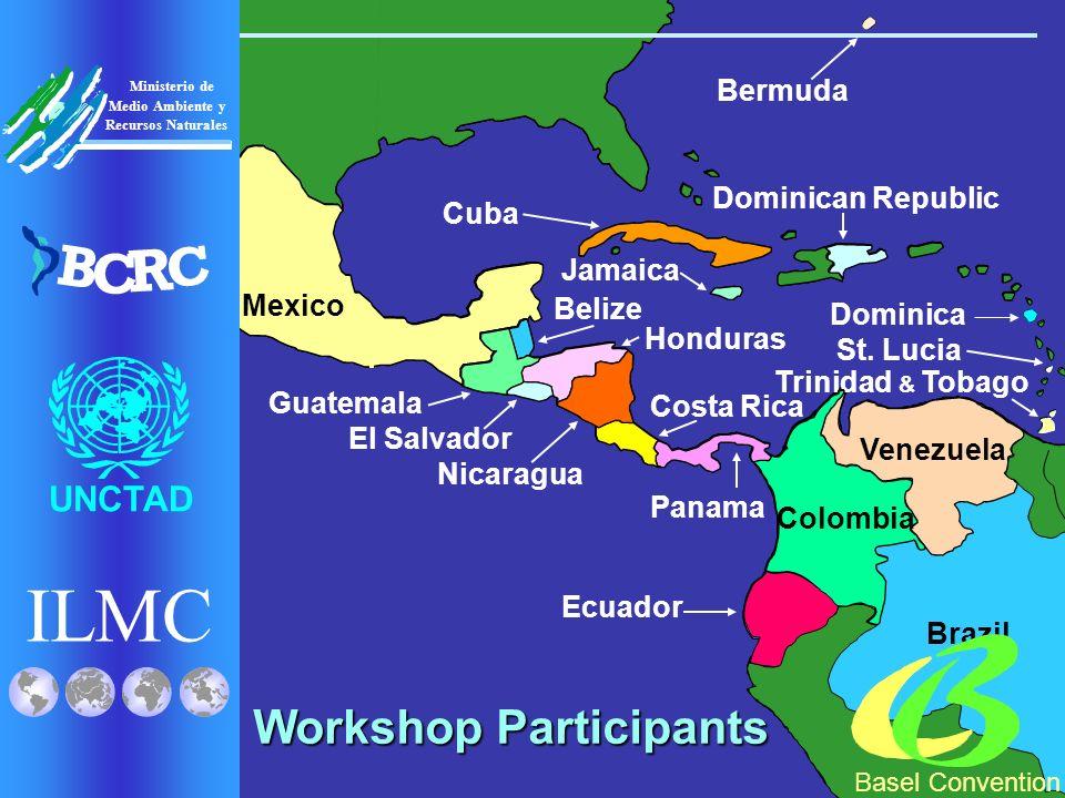 Brazil Venezuela Trinidad & Tobago Colombia Ecuador Mexico Panama Costa Rica Dominican Republic Belize Honduras Guatemala Nicaragua El Salvador St.