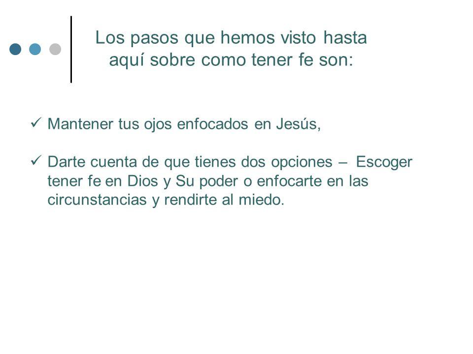 ¿Qué es la fe.