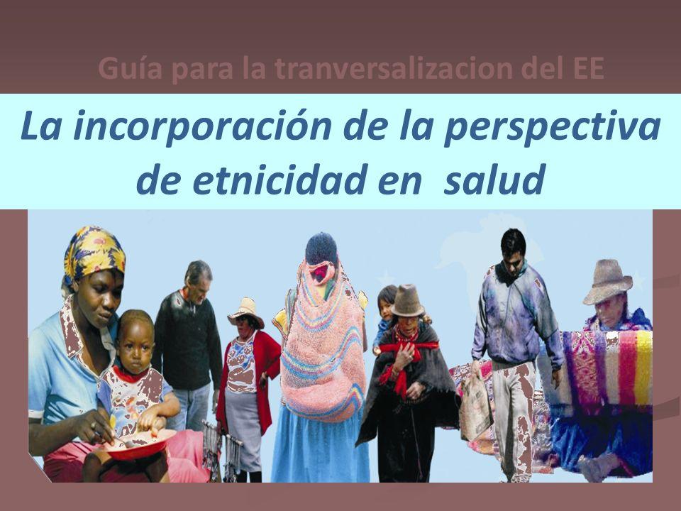 La incorporación de la perspectiva de etnicidad en salud Guía para la tranversalizacion del EE