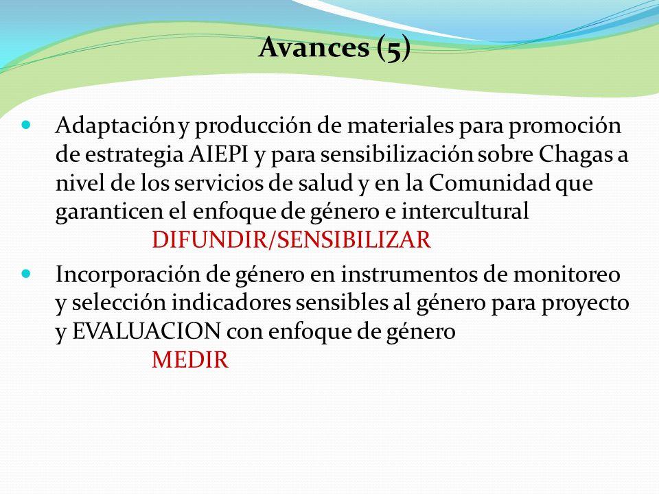 Adaptación y producción de materiales para promoción de estrategia AIEPI y para sensibilización sobre Chagas a nivel de los servicios de salud y en la
