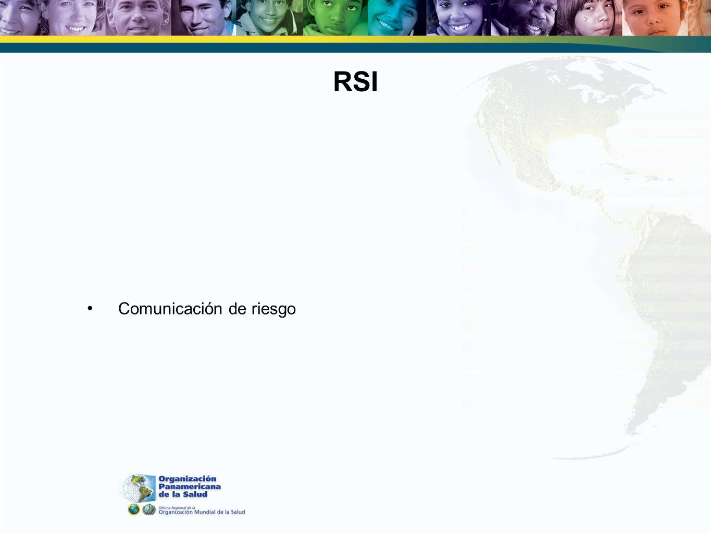 RSI Comunicación de riesgo