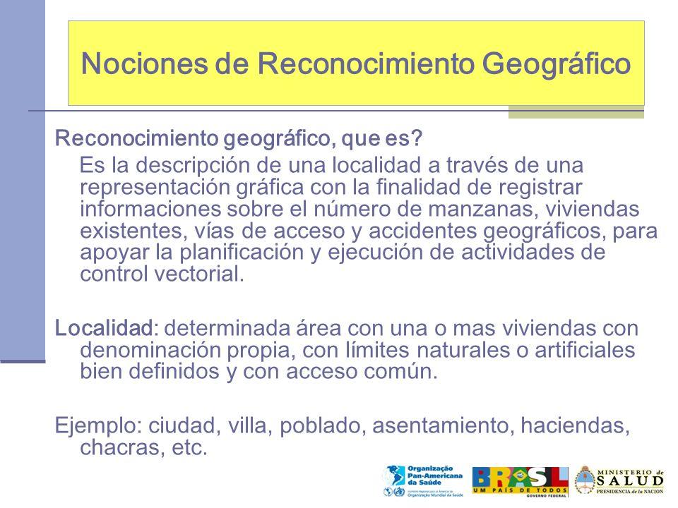 Nociones de Reconocimiento Geográfico Reconocimiento geográfico, que es? Es la descripción de una localidad a través de una representación gráfica con