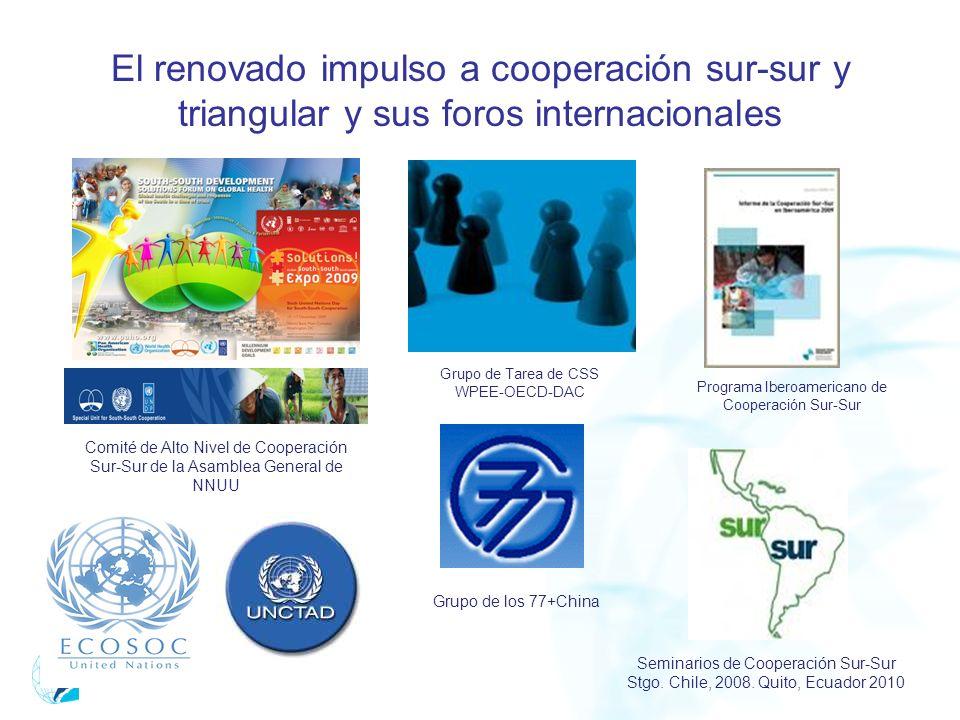 El renovado impulso a cooperación sur-sur y triangular y sus foros internacionales Comité de Alto Nivel de Cooperación Sur-Sur de la Asamblea General