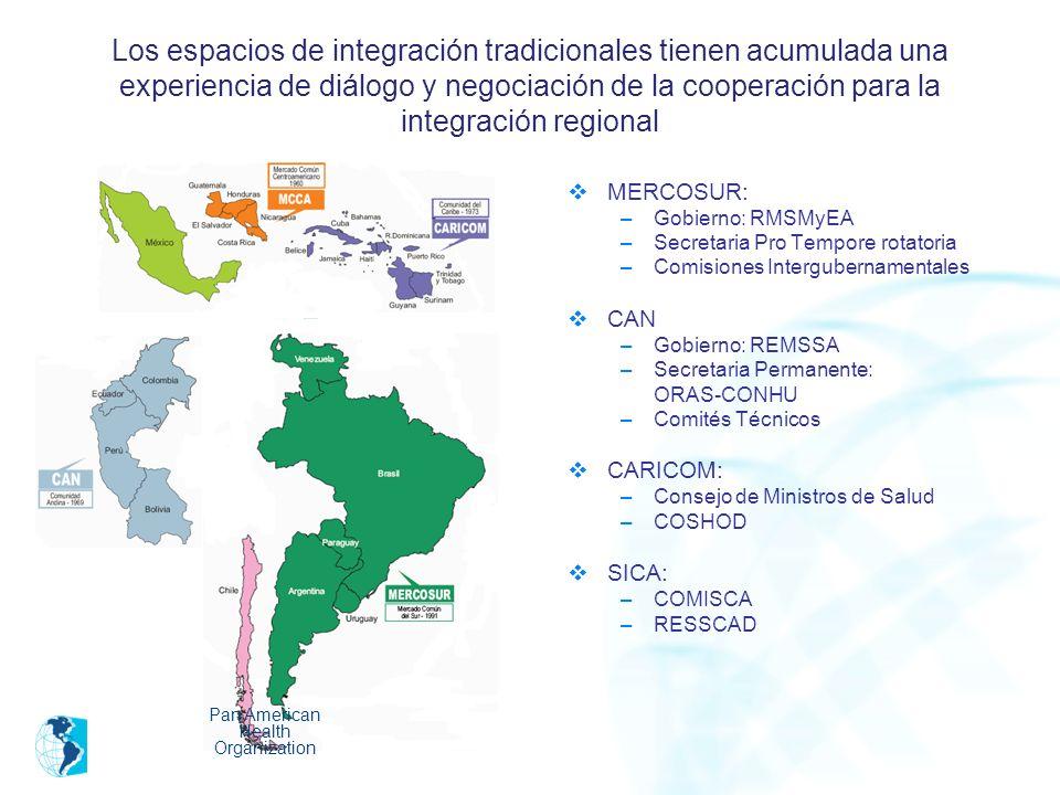 Los espacios de integración tradicionales tienen acumulada una experiencia de diálogo y negociación de la cooperación para la integración regional MER