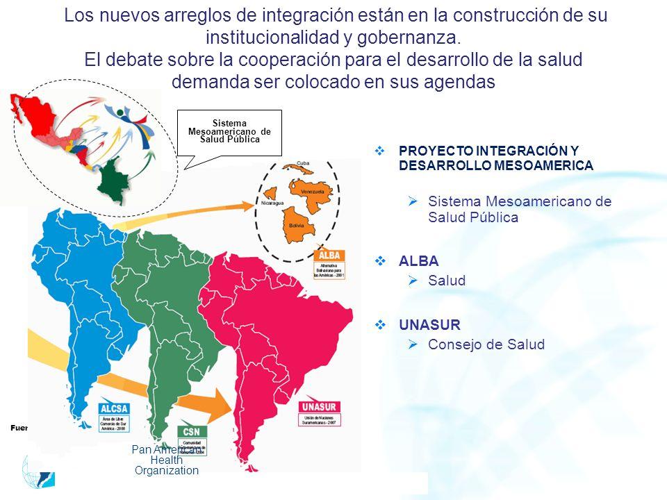 Los nuevos arreglos de integración están en la construcción de su institucionalidad y gobernanza. El debate sobre la cooperación para el desarrollo de
