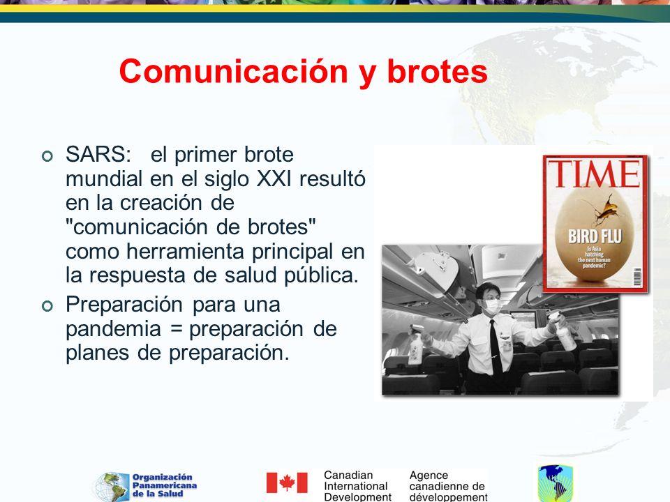 Comunicación y brotes SARS: el primer brote mundial en el siglo XXI resultó en la creación de