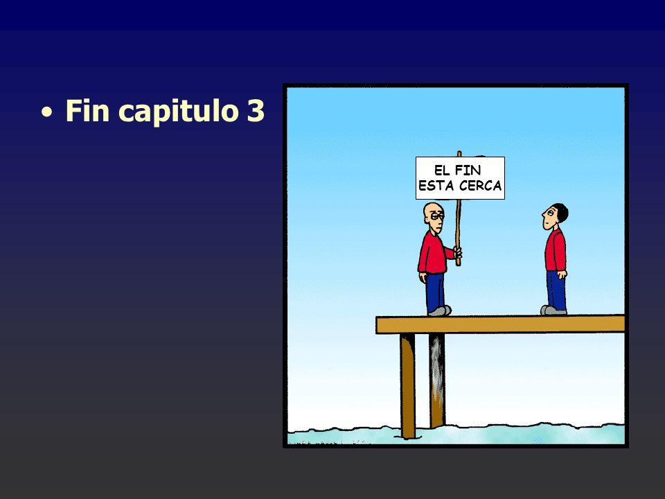 Fin capitulo 3 EL FIN ESTA CERCA