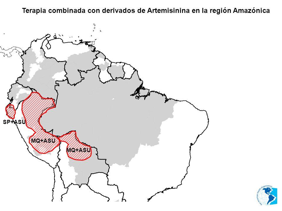 Terapia combinada con derivados de Artemisinina en la región Amazónica MQ+ASU SP+ASU