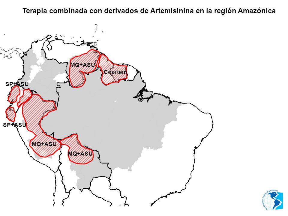 Terapia combinada con derivados de Artemisinina en la región Amazónica MQ+ASU Coartem MQ+ASU SP+ASU