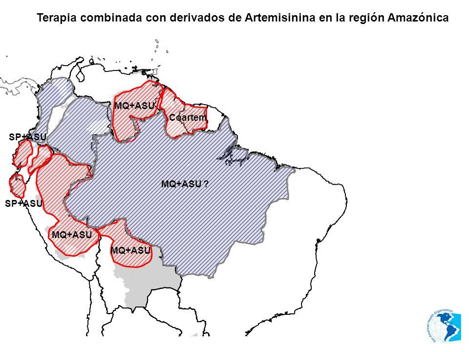 Terapia combinada con derivados de Artemisinina en la región Amazónica MQ+ASU SP+ASU MQ+ASU Coartem SP+ASU MQ+ASU ?