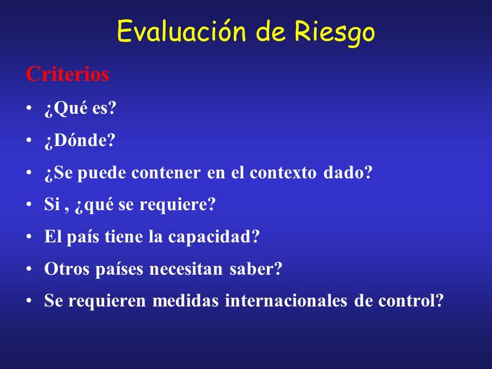 Evaluación de Riesgo Criterios ¿Qué es.¿Dónde. ¿Se puede contener en el contexto dado.