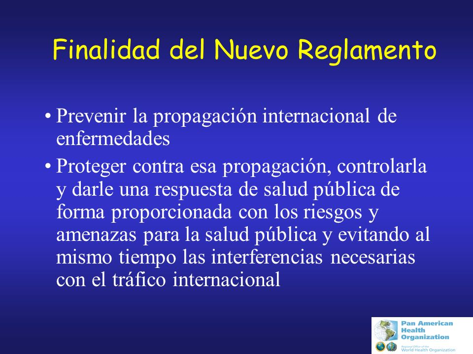 Reglamento Sanitario Internacional RSI (2005)