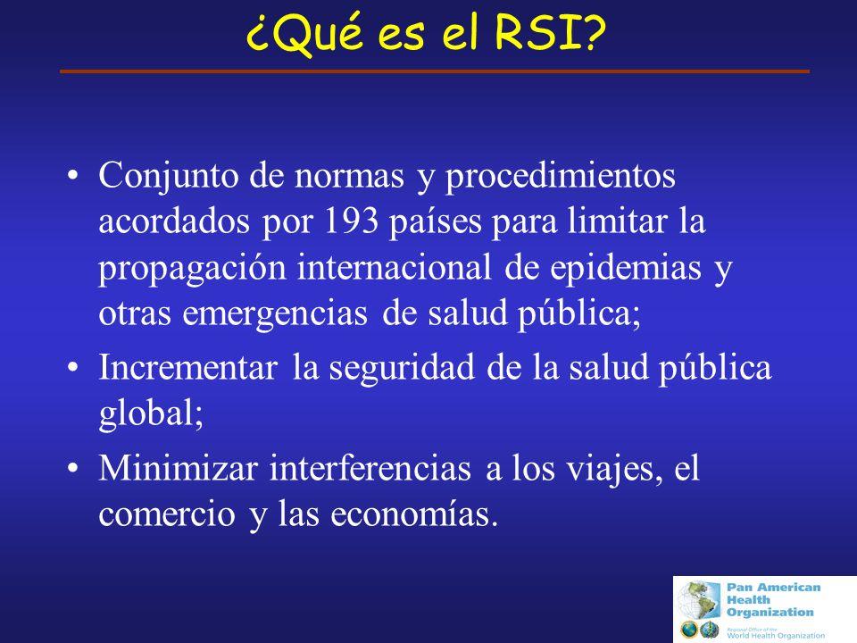 Reglamento Sanitario Internacional En síntesis Desarrollo laborioso: Asambleas Mundiales de la Salud Impulso debido a: SARS Bioterrorismo Gripe Aviar