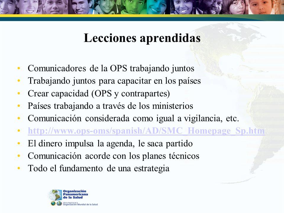 Panamá 2007 Reunidos una vez más para: –Verificar la situación de los planes nacionales de comunicación en caso de una pandemia –Cómo pueden ayudar los resultados de la encuesta a que los países de la OPS mejoren sus planes –Comunicación sobre brotes 2: ¿Puede utilizarse a nivel nacional/subnacional lo que estamos haciendo aquí?