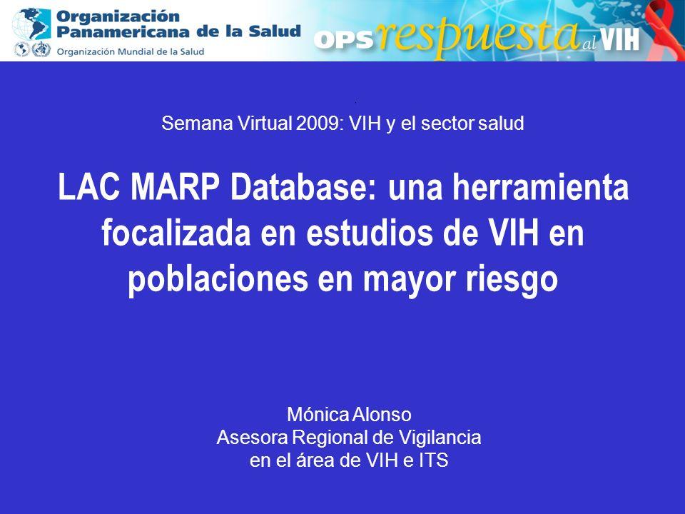2003 Sampling type among HIV biological studies using an probabilistic sampling.