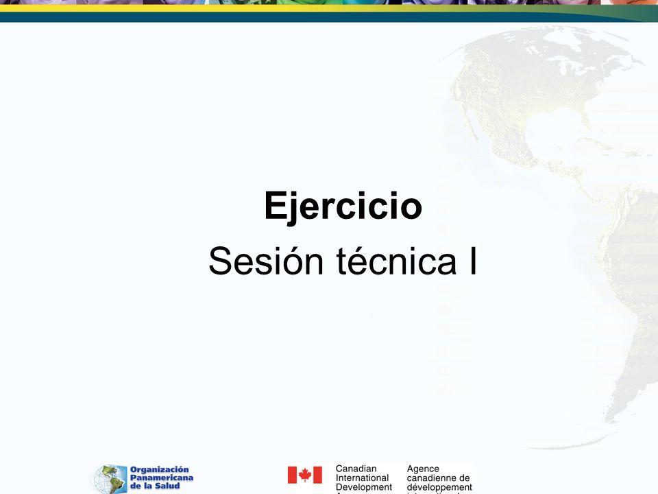 Ejercicio Sesión técnica I