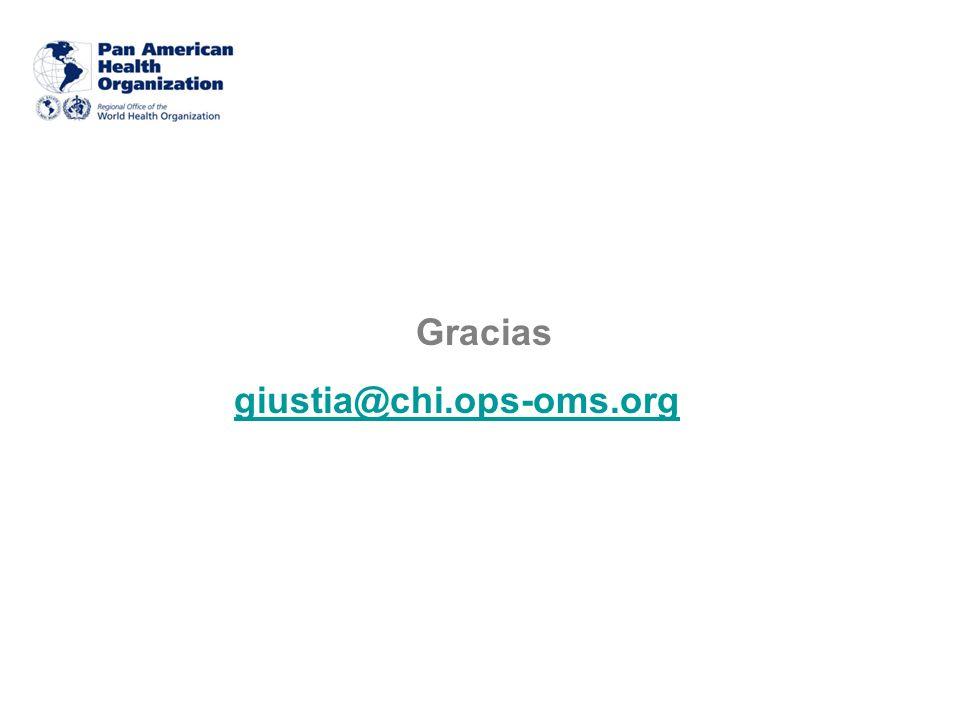 Gracias giustia@chi.ops-oms.org