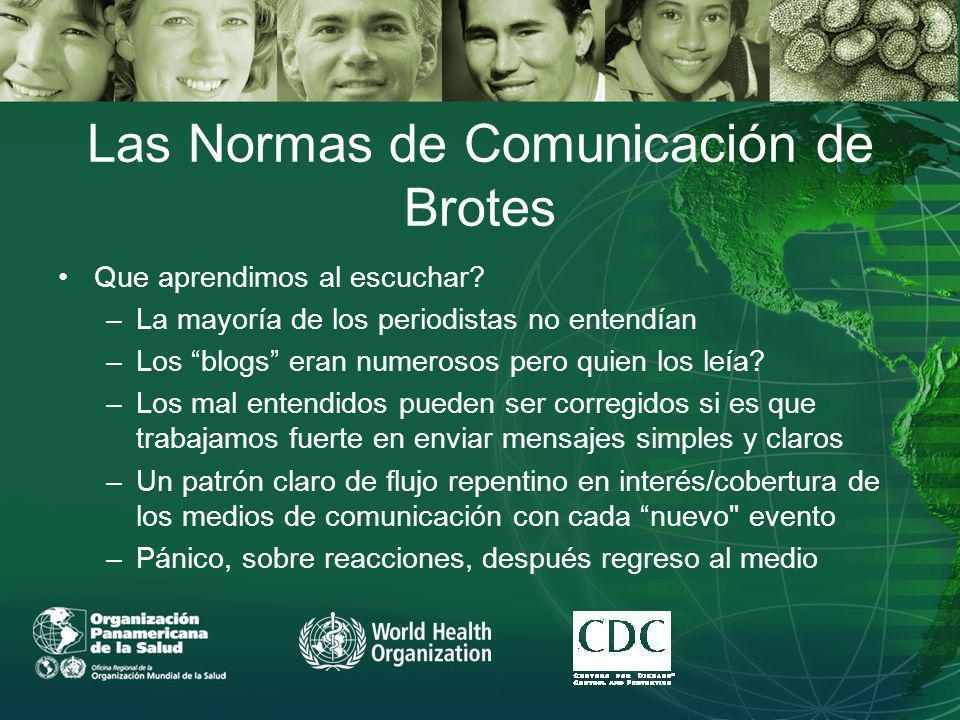 Las Normas de Comunicación de Brotes Que aprendimos al escuchar.
