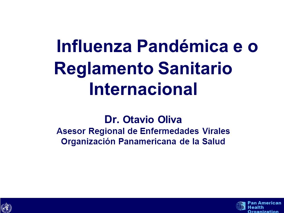 text Pan American Health Organization Influenza Aviar por H5N1 Situación Actual