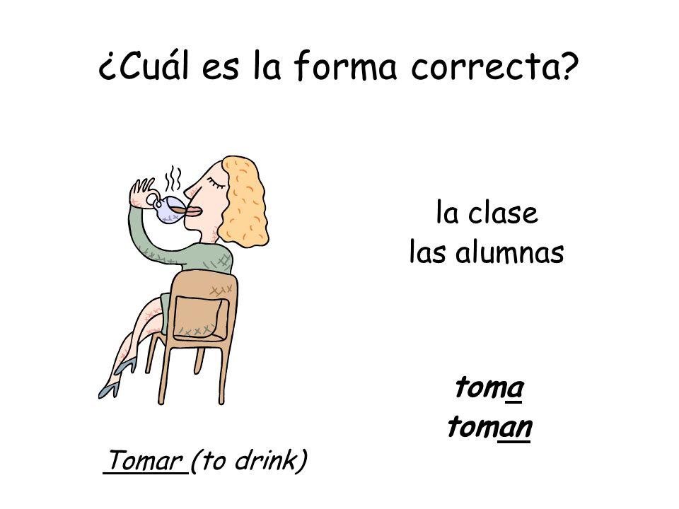 ¿Cuál es la forma correcta? mis amigos Entran Ramón y tú (uds.) Entran Entrar (to enter)