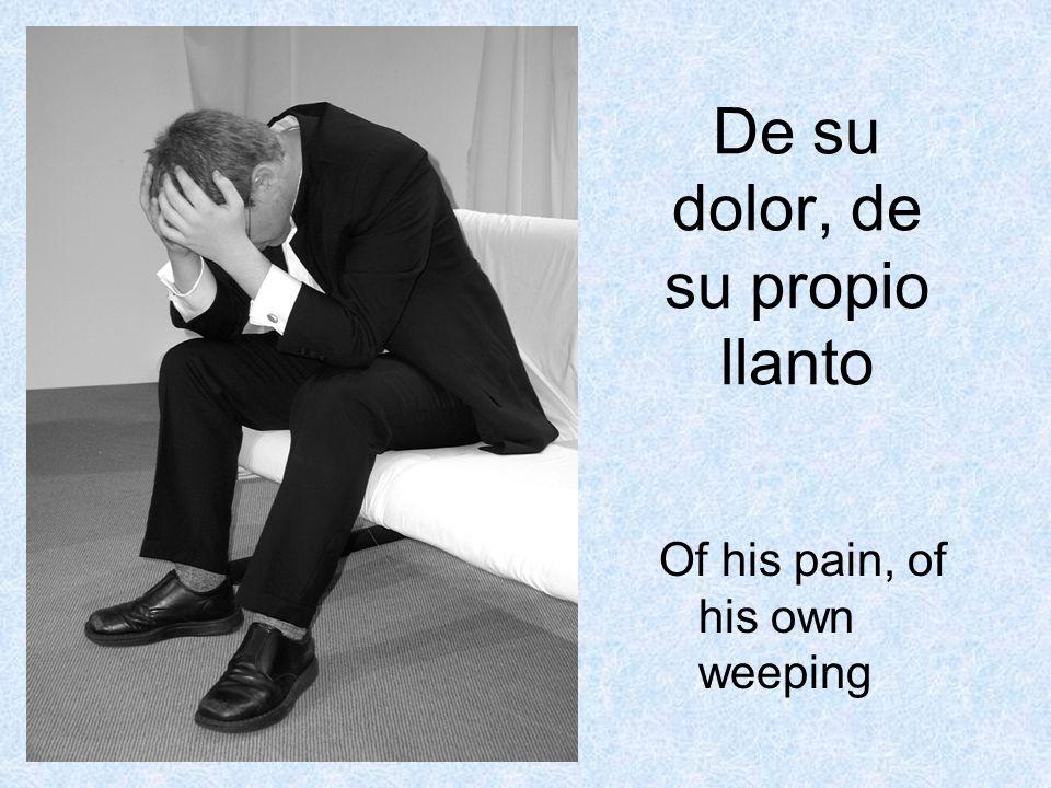De su dolor, de su propio llanto Of his pain, of his own weeping