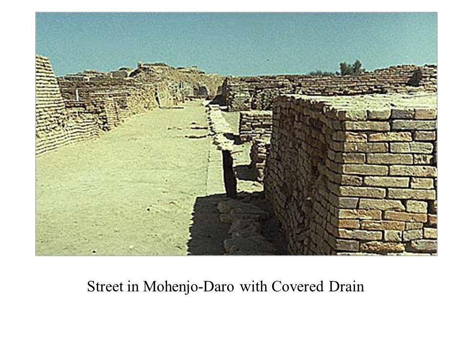 Street in Mohenjo-Daro with Covered Drain