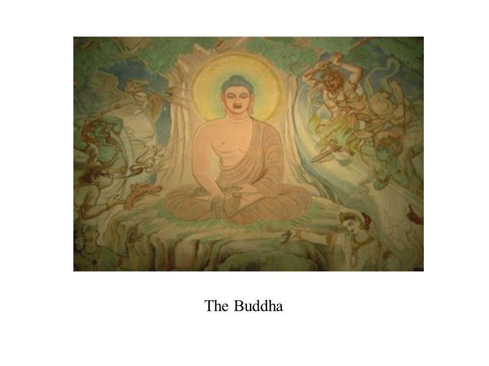 Budismo Desarrolló después de 550 A.C., en el norte de India Formado por Siddhartha Gautama, o Buda, the El Iluminado Siddhartha era un hombre rico; se dio cuenta del sufrimiento humano; trató a encontrar remedio para sufrimiento, y el misterio de la vida Hay que abandonar los deseos del mundo para encontrar el misterio de la vida, la verdad sagrada Meta: Logra Nirvana – terminación de su mismo y reunir con la Alma del Mundo Extendió de India a China, Japón y sudeste de Asia