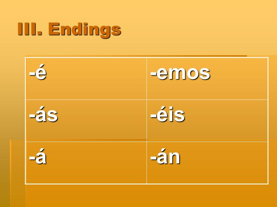 How do you conjugate.