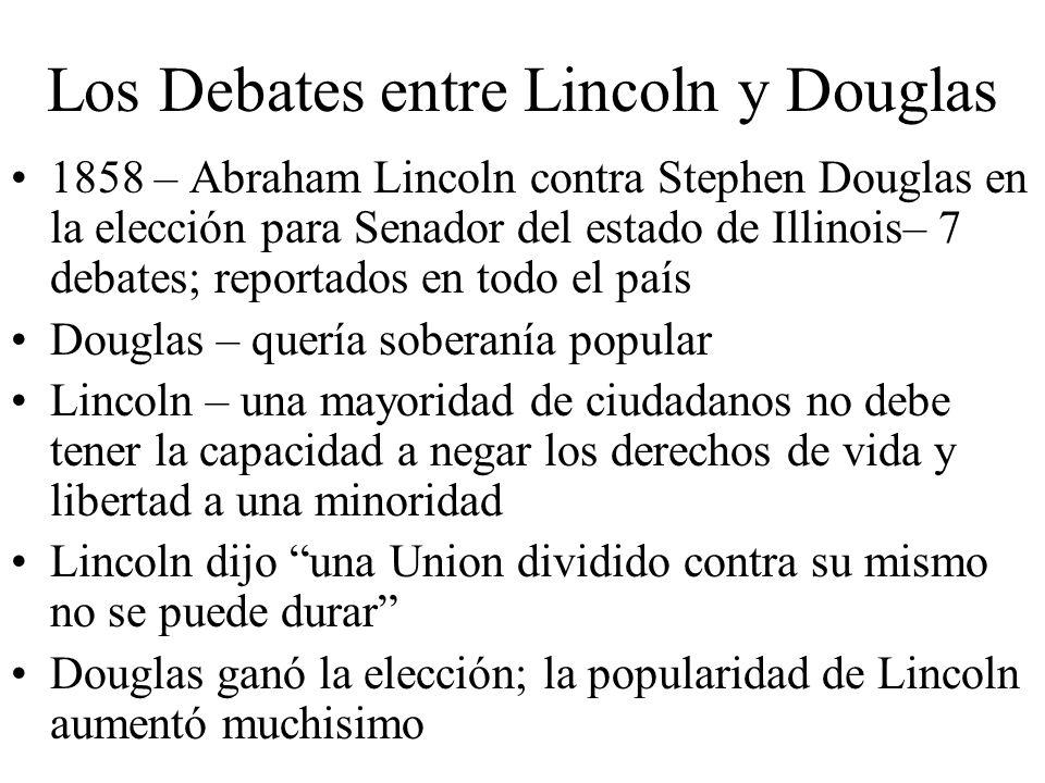 Los Debates entre Lincoln y Douglas 1858 – Abraham Lincoln contra Stephen Douglas en la elección para Senador del estado de Illinois– 7 debates; repor