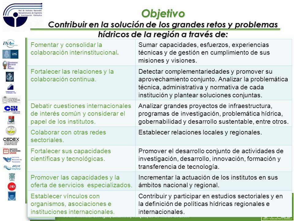 55 Red de Institutos Nacionales Iberoamericanos de Ingeniería e Investigación Hidráulica.