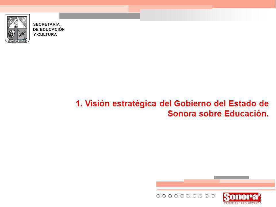1. Visión estratégica del Gobierno del Estado de Sonora sobre Educación.