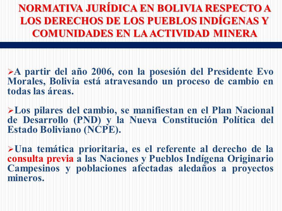 A partir del año 2006, con la posesión del Presidente Evo Morales, Bolivia está atravesando un proceso de cambio en todas las áreas.