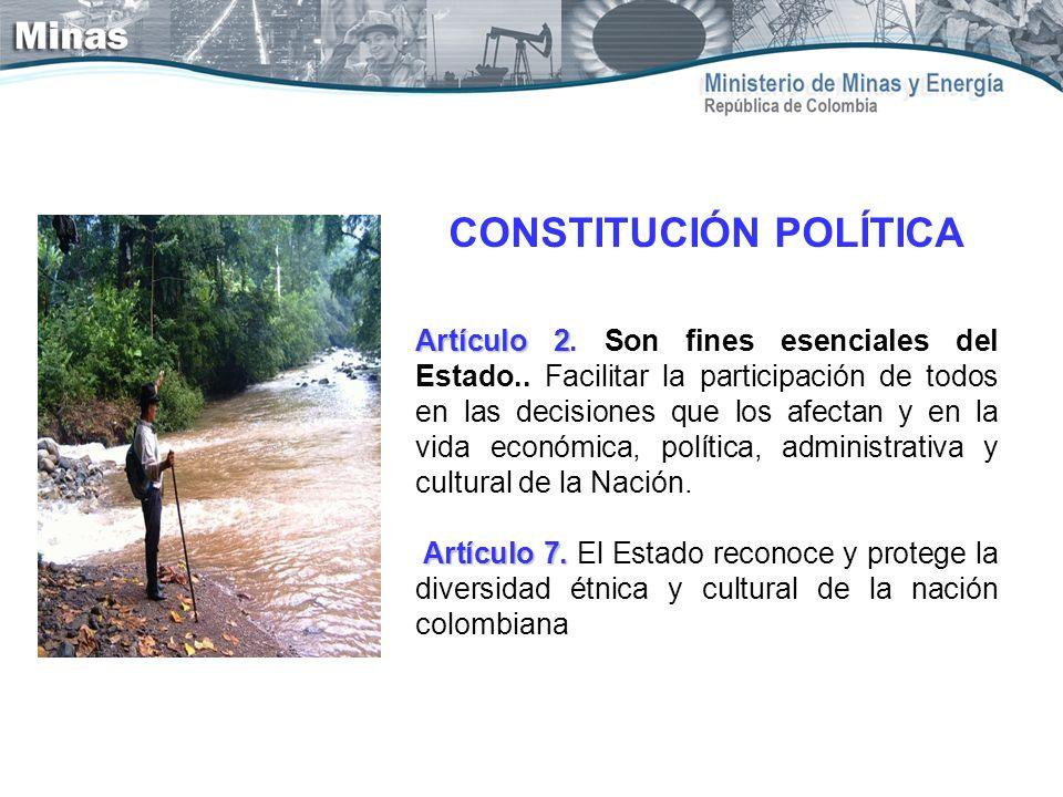 CONSTITUCIÓN POLÍTICA Artículo 2 Artículo 2. Son fines esenciales del Estado.. Facilitar la participación de todos en las decisiones que los afectan y