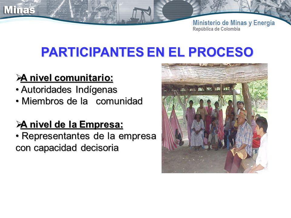 A nivel comunitario: A nivel comunitario: Autoridades Indígenas Autoridades Indígenas Miembros de la comunidad Miembros de la comunidad A nivel de la