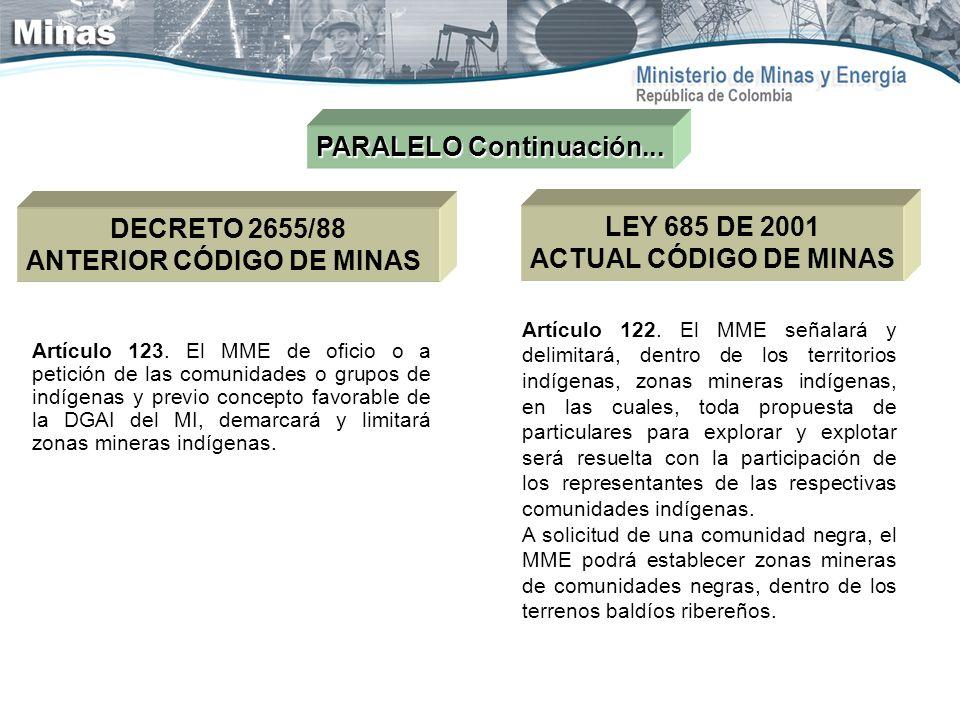Artículo 123. El MME de oficio o a petición de las comunidades o grupos de indígenas y previo concepto favorable de la DGAI del MI, demarcará y limita