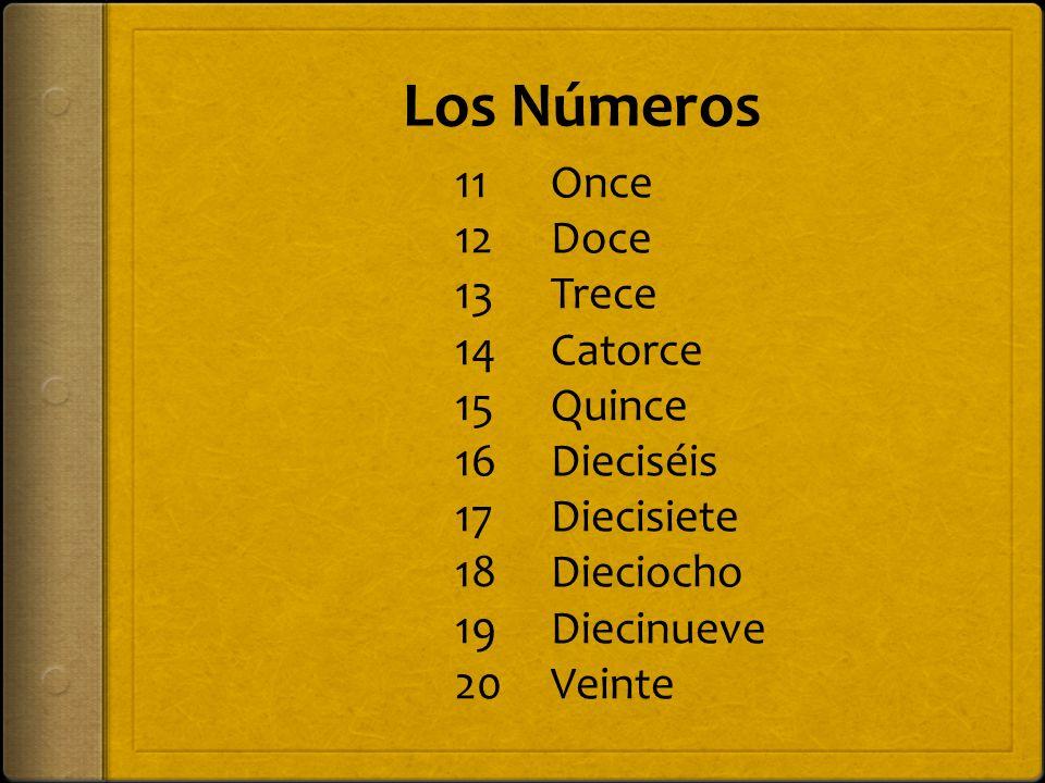 Los Números 21 22 23 24 25 26 27 28 29 Veintiuno Veintidos Veintitrés Veinticuatro Veinticinco Veintiséis Veintisiete Veintiocho Veintinueve