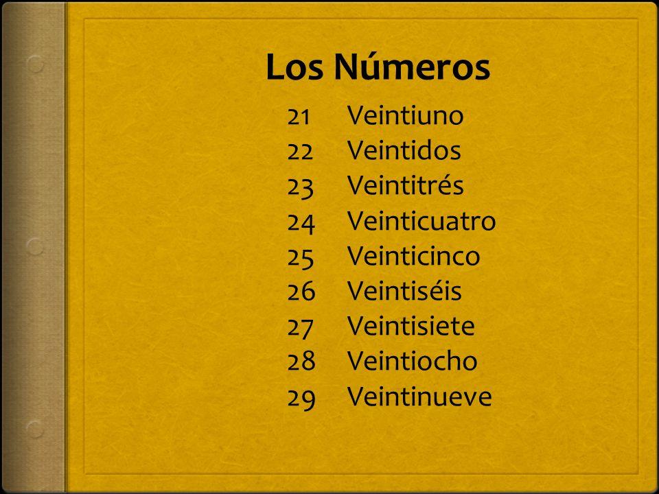 Los Números 30 40 50 60 Treinta Cuarenta Cincuenta Sesenta