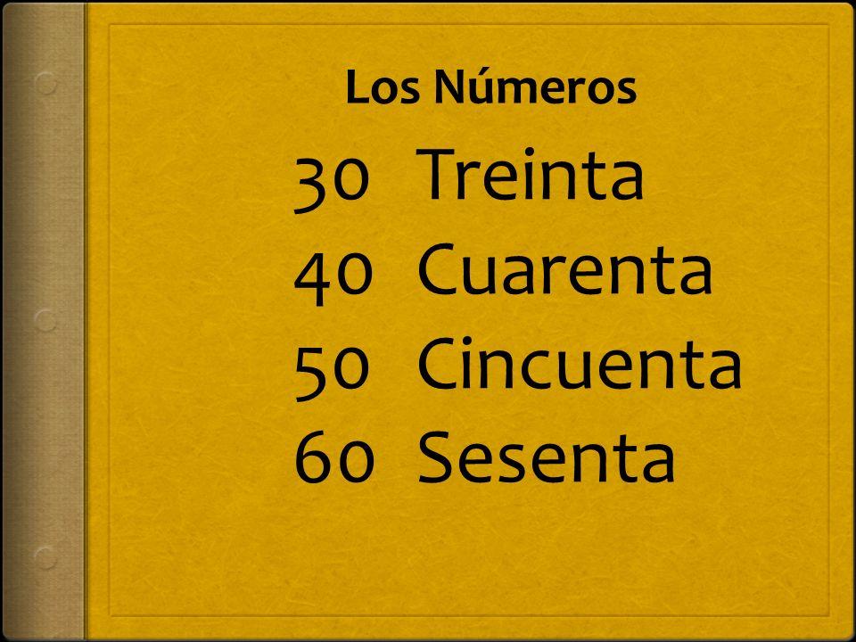Los Números 70 80 90 100 Setenta Ochenta Noventa Ciento