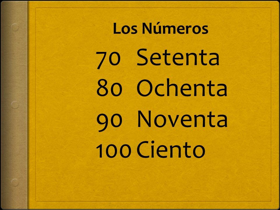 Los Números Noventa y ocho