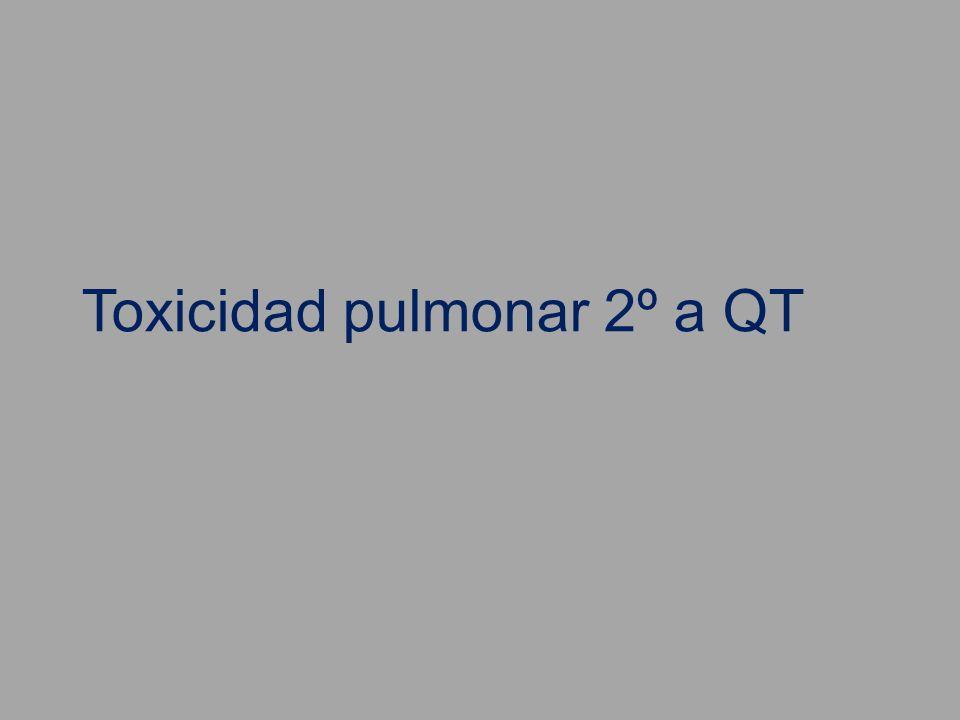 Toxicidad pulmonar 2º a QT