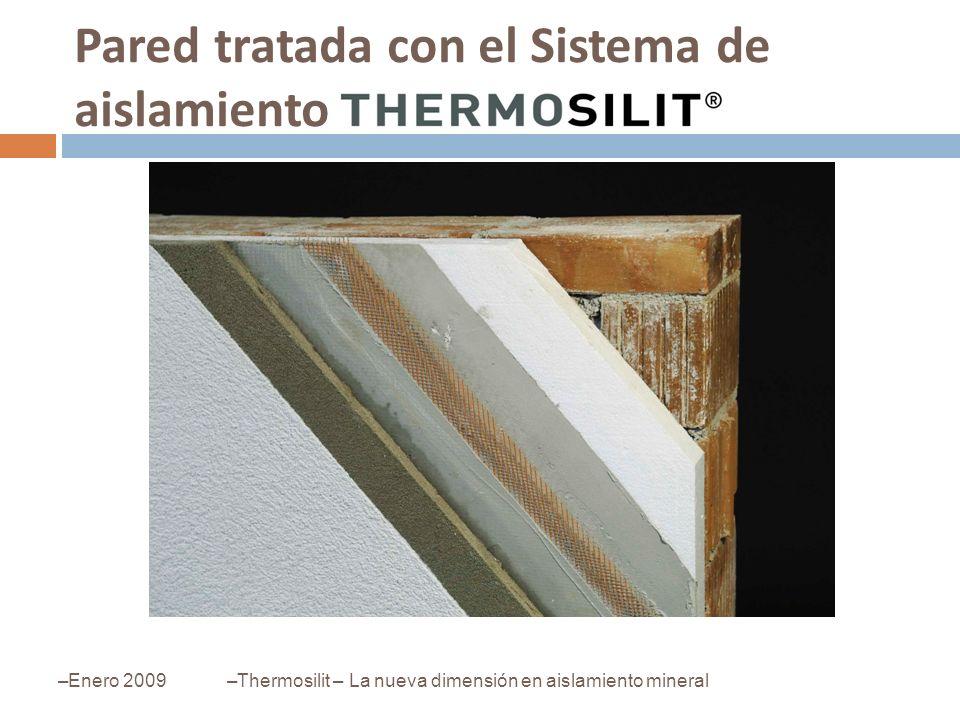 Pared tratada con el Sistema de aislamiento –Enero 2009–Thermosilit – La nueva dimensión en aislamiento mineral