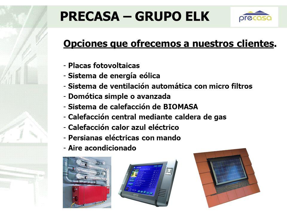 Opciones que ofrecemos a nuestros clientes. - Placas fotovoltaicas - Sistema de energía eólica - Sistema de ventilación automática con micro filtros -
