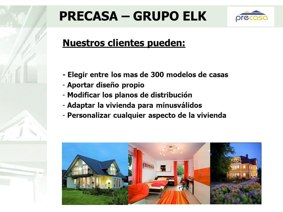 Nuestros clientes pueden: - Elegir entre los mas de 300 modelos de casas - Aportar diseño propio - Modificar los planos de distribución - Adaptar la v