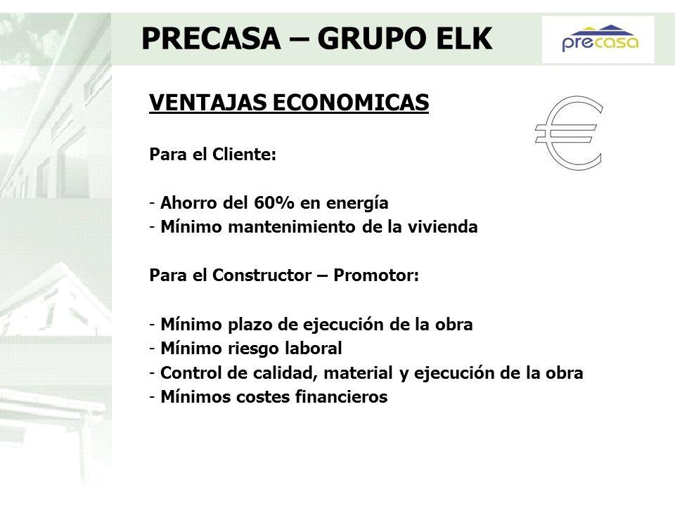 VENTAJAS ECONOMICAS Para el Cliente: - Ahorro del 60% en energía - Mínimo mantenimiento de la vivienda Para el Constructor – Promotor: - Mínimo plazo