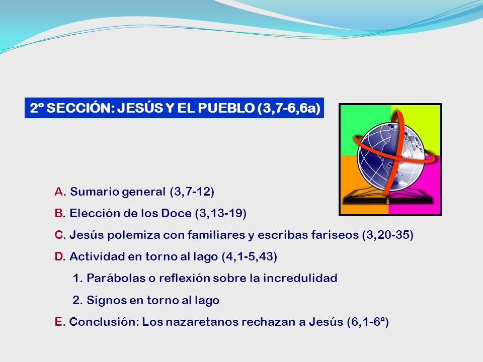 A.Sumario general (3,7-12) B. Elección de los Doce (3,13-19) C.