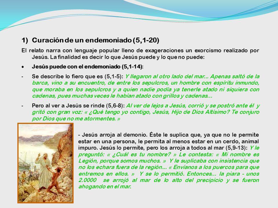 2. SIGNOS EN TORNO AL LAGO (4,35-5,43) 1)La tempestad calmada. Jesús se revela como señor de la naturaleza; los discípulos, lentos para creer, se inte