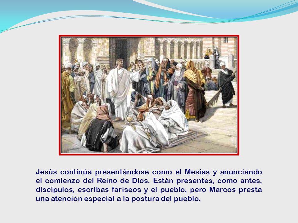 Jesús continúa presentándose como el Mesías y anunciando el comienzo del Reino de Dios.