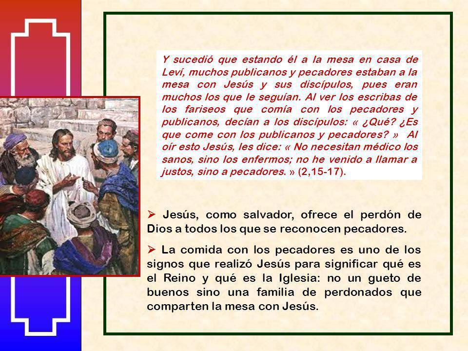 Leví, agradecido, organiza una comida a la que invita a Jesús, a sus discípulos y muchos de sus amigos y compañeros. Invitar a la mesa es signo de ami