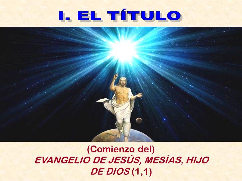 Texto: Antonio Rodríguez Carmona Presentación: Antonio García Polo EVANGELIO DE SAN MARCOS 2. Prólogo teológico Ciclo Litúrgico /B